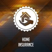 Home Insurance on Triangle Background. — Stok fotoğraf