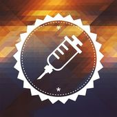 Syringe Icon on Triangle Background. — Foto Stock