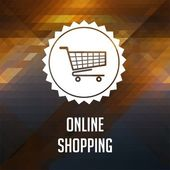 Online Shopping Concept on Triangle Background. — Stock Photo