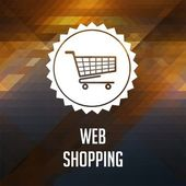 Web Shopping Concept on Triangle Background. — Stock Photo