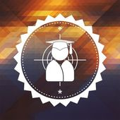 Graduate - Target Concept on Triangle Background. — Stock Photo