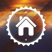 Home Icon on Triangle Background. — Stock Photo