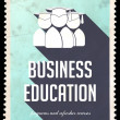 Stock Photo: Business Education on Light Blue in Flat Design.