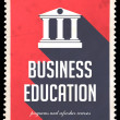Stock Photo: Business Education on Red in Flat Design.