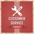 Customer Service Concept on Red in Flat Design. — Φωτογραφία Αρχείου