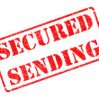Secured Sending -  Red Rubber Stamp. — Stock Photo #41522483