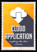 Cloud Application on Yellow in Flat Design. — Stock Photo