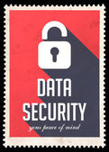Data Security on Red in Flat Design. — Stock Photo