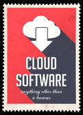 Cloud Software on Red in Flat Design. — Stock Photo