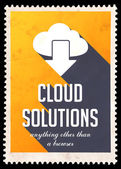 Cloud Solutions on Yellow in Flat Design. — Stock Photo