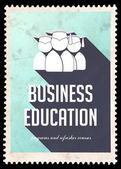 Business Education on Light Blue in Flat Design. — Stock Photo