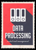Data Processing on Red in Flat Design. — Stock Photo