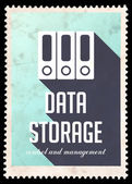 Data Storage on Light Blue in Flat Design. — Stock Photo