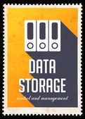 Data Storage on Yellow in Flat Design. — Stock Photo