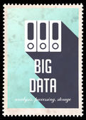 Big Data on Blue in Flat Design. — Stock Photo