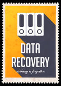 Data Recovery on Yellow in Flat Design. — Stock Photo