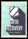 Data Recovery on Blue in Flat Design. — Stock Photo