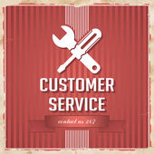 Customer Service Concept on Red in Flat Design. — Stock Photo