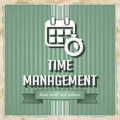 Time Management Concept in Flat Design. — Stock Photo