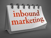 Inbound Marketing Concept on Desktop Calendar. — Stock Photo