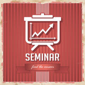 Seminar Concept in Flat Design. — Stock Photo