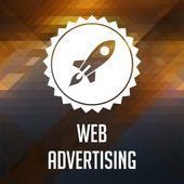 Web Advertising Concept on Triangle Background. — Stock Photo