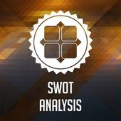 SWOT Analysis Concept on Triangle Background. — Stock Photo