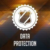Data Protection Concept on Triangle Background. — Stock Photo