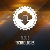 Cloud Technologies Concept on Triangle Background. — Stock Photo