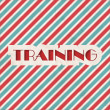 Stock Photo: Training Concept on Striped Background.