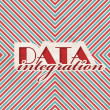 Stock Photo: DatIntegration Concept on Striped Background.