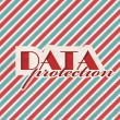 Stock Photo: DatProtection Concept on Striped Background.