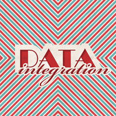 Data Integration Concept on Striped Background. — Photo
