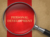 Personal Development - Magnifying Glass Concept. — Photo