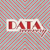 Data Recovery Concept on Striped Background. — Stock Photo