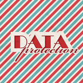 Data Protection Concept on Striped Background. — Stock Photo