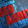 Stock Photo: SEO Audit -  Wordcloud Concept.