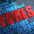 Stock Photo: Tools - Wordcloud Concept.