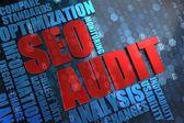 SEO Audit -  Wordcloud Concept. — Stock Photo