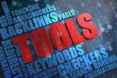 Tools - Wordcloud Concept. — Stock Photo