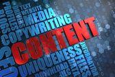 Content - Wordcloud Concept. — Stock Photo