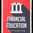 Stock Photo: Financial Education on Red in Flat Design.