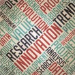 Research Innovation - Vintage Wordcloud. — Stockfoto