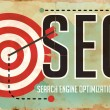 Stock Photo: SEO Concept. Poster in Flat Design.