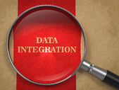 Data Integration - Magnifying Glass. — Stok fotoğraf
