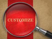 Customize - Magnifying Glass. — Stock Photo