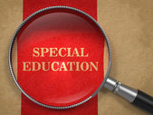 Special Education - Magnifying Glass. — Stock Photo
