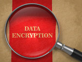 Data Encryption - Magnifying Glass. — Stock Photo