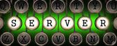 Server on Old Typewriter's Keys. — Stock Photo