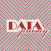 Data Privacy Concept on Striped Background. — Stok fotoğraf